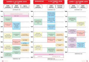 Programme du Salon du Saké 2019