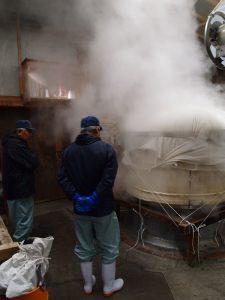 La cuisson du riz à la vapeur