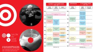 Affiche et programme du Salon du Saké 2019