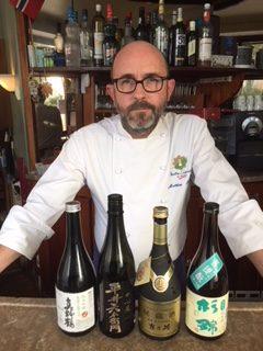 Le chef Matthieu Garrel au Salon Européen du saké et des boissons japonaises