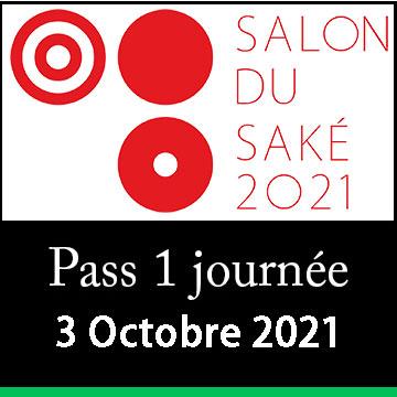 1 day pass - Sunday, Oct. 3rd 2021 - Salon du Sake - Paris