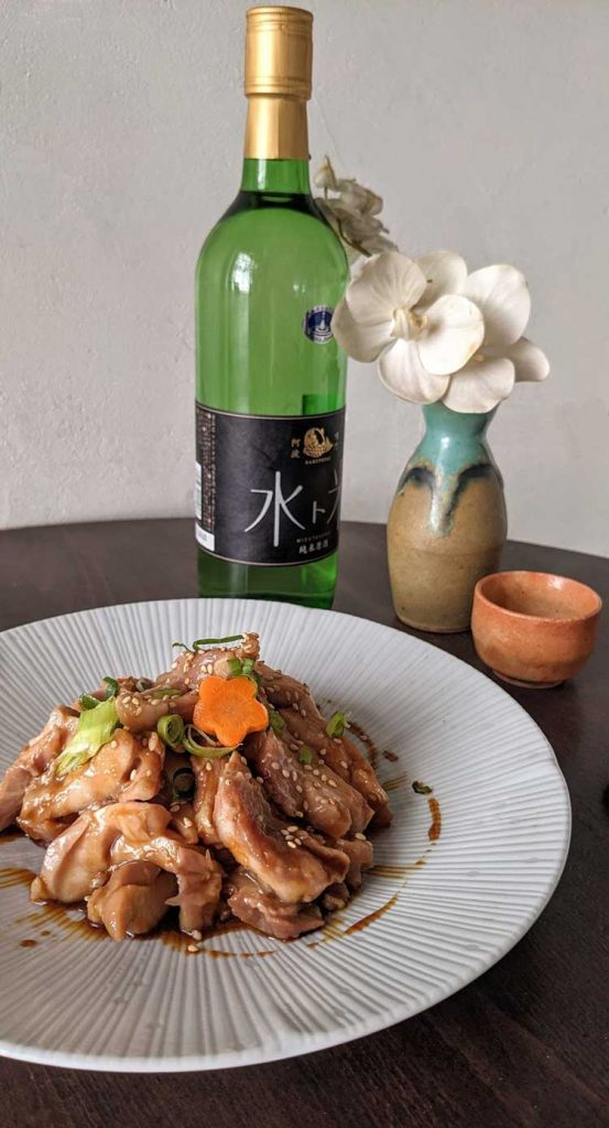 Atelier accords met et sakés - poulet teriyaki et saké - Salon Européen du Saké et des boissons japonaises 2021